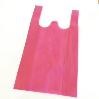 37372-04 PACK OF 50 CLOTH BAGS FUCHSIA 40 GSM. SIZE: 25 X 45 CM