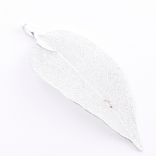 36151-15 FASHION JEWELLERY METAL LEAF SHAPED 50 X 30 MM APPROXIMATE SIZED PENDANT