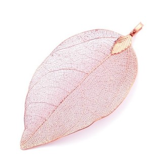 36151-18 FASHION JEWELLERY METAL LEAF SHAPED 50 X 30 MM APPROXIMATE SIZED PENDANT