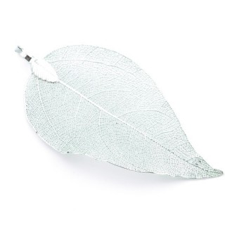 36151-19 FASHION JEWELLERY METAL LEAF SHAPED 50 X 30 MM APPROXIMATE SIZED PENDANT