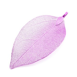 36151-21 FASHION JEWELLERY METAL LEAF SHAPED 50 X 30 MM APPROXIMATE SIZED PENDANT