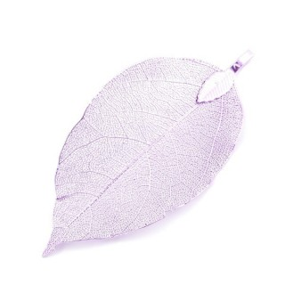 36151-22 FASHION JEWELLERY METAL LEAF SHAPED 50 X 30 MM APPROXIMATE SIZED PENDANT