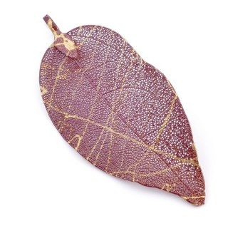 36151-31 FASHION JEWELLERY METAL LEAF SHAPED 50 X 30 MM APPROXIMATE SIZED PENDANT