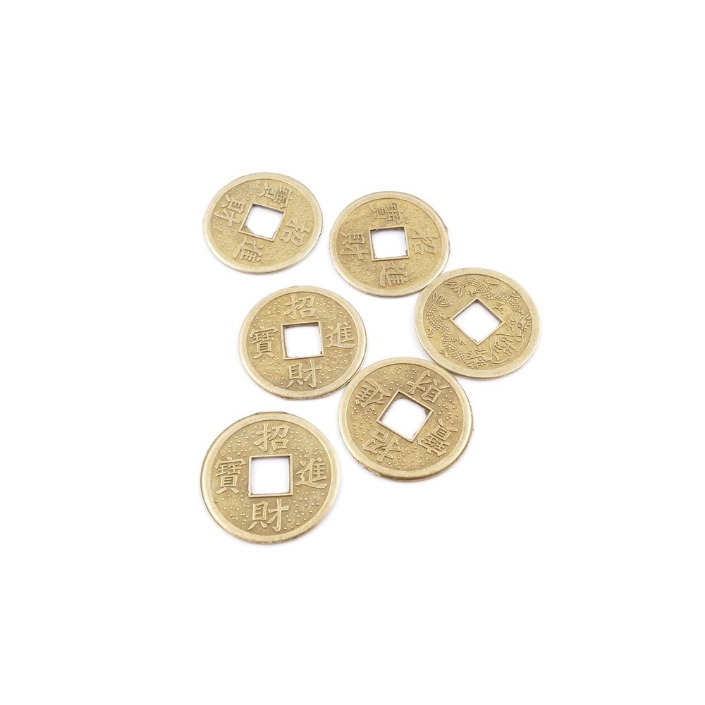 38369 PACK OF 12 METAL 23 MM FENG SHUI COINS