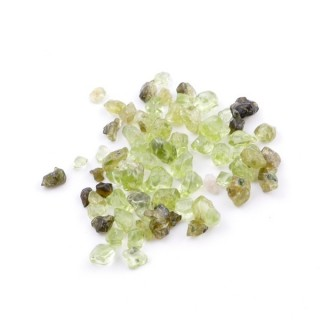 38146 PACK OF 125 GRAMOS OF OLIVINE STONE CHIPS WITHOUT HOLE
