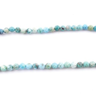 42664 40 CM STRING OF 4 MM FACETED TURQUOISE BEADS