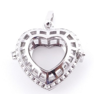 38235-01 FASHION JEWELRY METAL 27 MM HEART SHAPED LOCKET