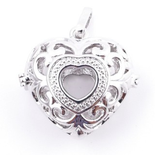 38235-02 FASHION JEWELRY METAL 27 MM HEART SHAPED LOCKET