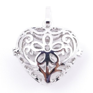 38235-04 FASHION JEWELRY METAL 27 MM HEART SHAPED LOCKET