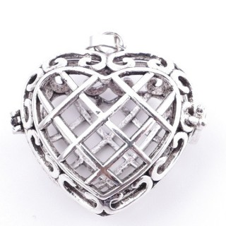 38235-07 FASHION JEWELRY METAL 27 MM HEART SHAPED LOCKET
