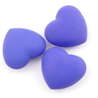 38236-03 PACK OF 3 PCS 24 MM HEARTS WITH ANGEL CALLER BELL