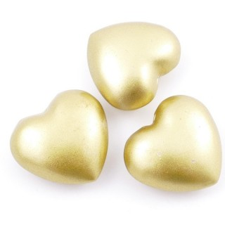 38236-06 PACK OF 3 PCS 24 MM HEARTS WITH ANGEL CALLER BELL