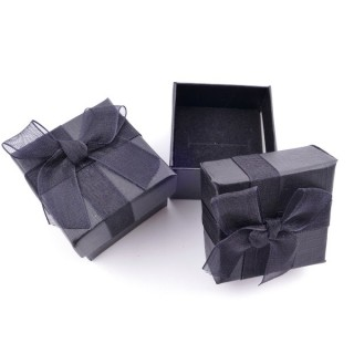 18819-04 PACK OF 24 GIFT BOXES FOR RINGS 4 X 4 CM IN BLACK
