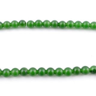 44254-01 40 CM STRING OF 6 MM DYED JADE BEADS