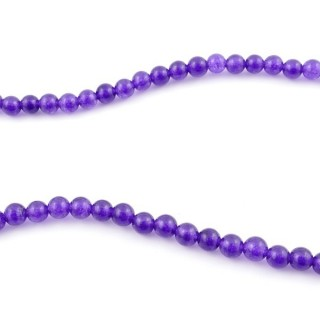 44254-02 40 CM STRING OF 6 MM DYED JADE BEADS