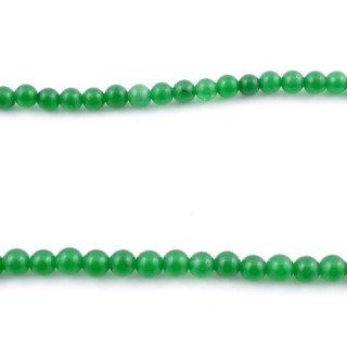 44254-03 40 CM STRING OF 6 MM DYED JADE BEADS