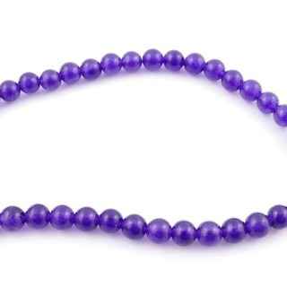 44255-02 40 CM STRING OF 8 MM DYED JADE BEADS