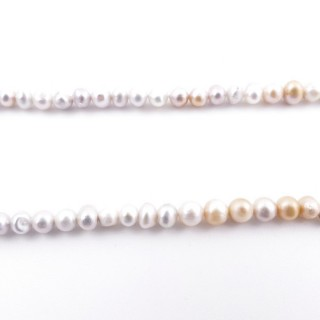 36130-01 32 CM LONG STRING OF 4 X 5 MM FRESHWATER PEARLS