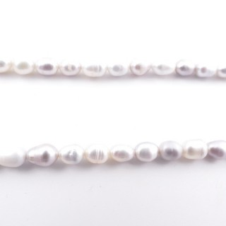 36130-03 32 CM LONG STRING OF 8 X 6 MM FRESHWATER PEARLS