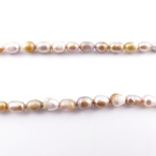 36130-04 32 CM LONG STRING OF 7 X 5 MM FRESHWATER PEARLS
