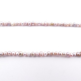 36130-05 32 CM LONG STRING OF 3.5 X 4 MM FRESHWATER PEARLS