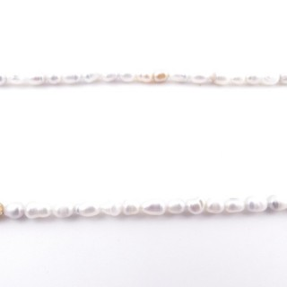 36130-06 32 CM LONG STRING OF 5 X 4 MM FRESHWATER PEARLS