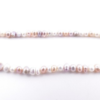 36130-07 32 CM LONG STRING OF 4 X 5 MM FRESHWATER PEARLS