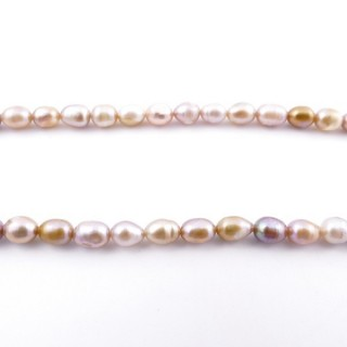 36130-08 32 CM LONG STRING OF 6 X 5 MM FRESHWATER PEARLS