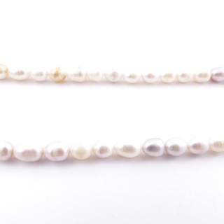 36130-11 32 CM LONG STRING OF 7 X 6 MM FRESHWATER PEARLS