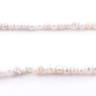 36108 34 CM LONG STRING OF 3-4 MM FRESHWATER PEARLS
