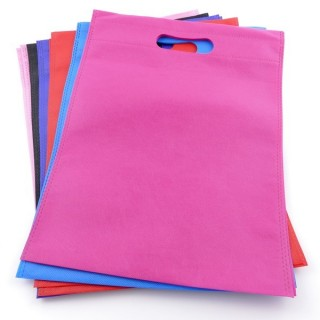 38345-01 PACK OF 12 NON WOVEN 25 X 33 CM BAGS IN ASSORTED COLOURS