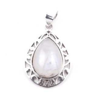 58400-05 STERLING SILVER 27 X 20 MM PENDANT WITH MOONSTONE