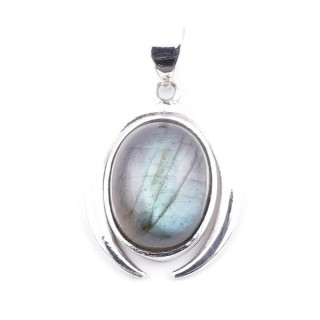 58401-08 STERLING SILVER 29 X 19 MM PENDANT WITH LABRADORITE