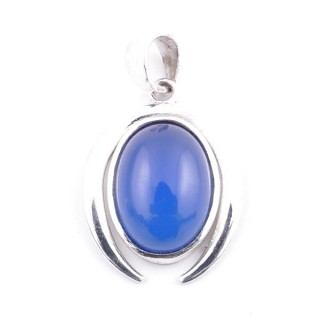 58401-15 STERLING SILVER 29 X 19 MM PENDANT WITH BLUE ONYX