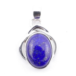 58404-02 STERLING SILVER 27 x 19 MM PENDANT WITH LAPIS LAZULI