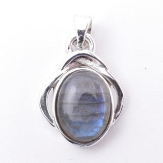 58404-08 STERLING SILVER 27 x 19 MM PENDANT WITH LABRADORITE