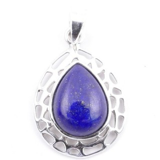 58405-02 STERLING SILVER 30 X 21 MM PENDANT WITH LAPIS LAZULI