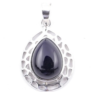 58405-04 STERLING SILVER 30 X 21 MM PENDANT WITH ONYX