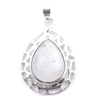 58405-05 STERLING SILVER 30 X 21 MM PENDANT WITH MOONSTONE