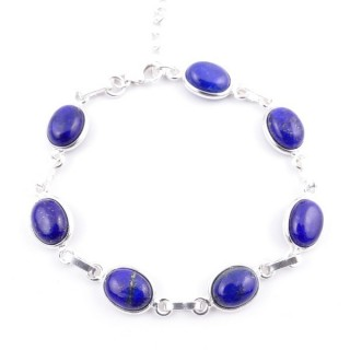 58304-02 STERLING SILVER 16 + 2.50 CM BRACELET WITH LAPIS LAZULI
