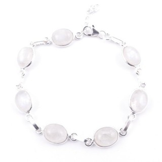 58304-05 STERLING SILVER 16 + 2.50 CM BRACELET WITH MOONSTONE