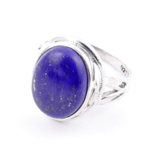 58203-02 ADJUSTABLE 19 X 16 MM SILVER RING WITH STONE IN LAPIS LAZULI