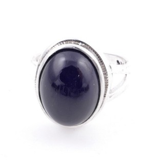 58211-04 ADJUSTABLE 19 X 15 MM SILVER RING WITH STONE IN ONYX