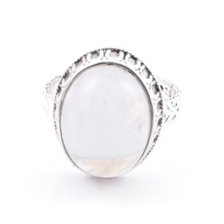 58212-05 ADJUSTABLE 20 X 16 MM SILVER RING WITH MOONSTONE