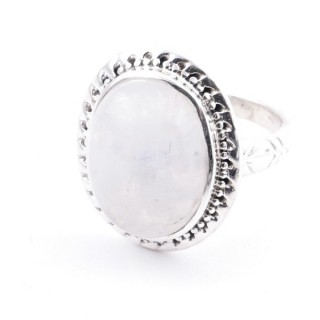 58213-05 ADJUSTABLE 21 X 17 MM SILVER RING WITH MOONSTONE