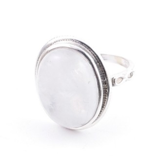 58214-05 ADJUSTABLE 19 X 16 MM SILVER RING WITH MOONSTONE