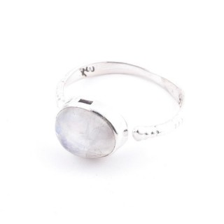 58200-05 ADJUSTABLE 10 X 12 MM SILVER RING WITH MOONSTONE