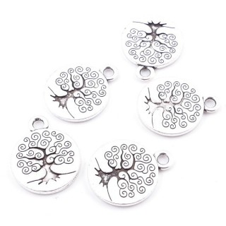 29039-83 PACK OF 12 FASHION JEWELRY METAL 15 MM TREE OF LIFE CHARMS