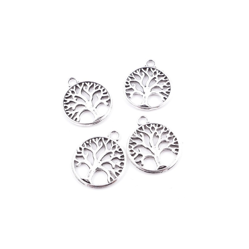 29039-88 PACK OF 12 FASHION JEWELRY METAL 20 MM TREE OF LIFE CHARMS