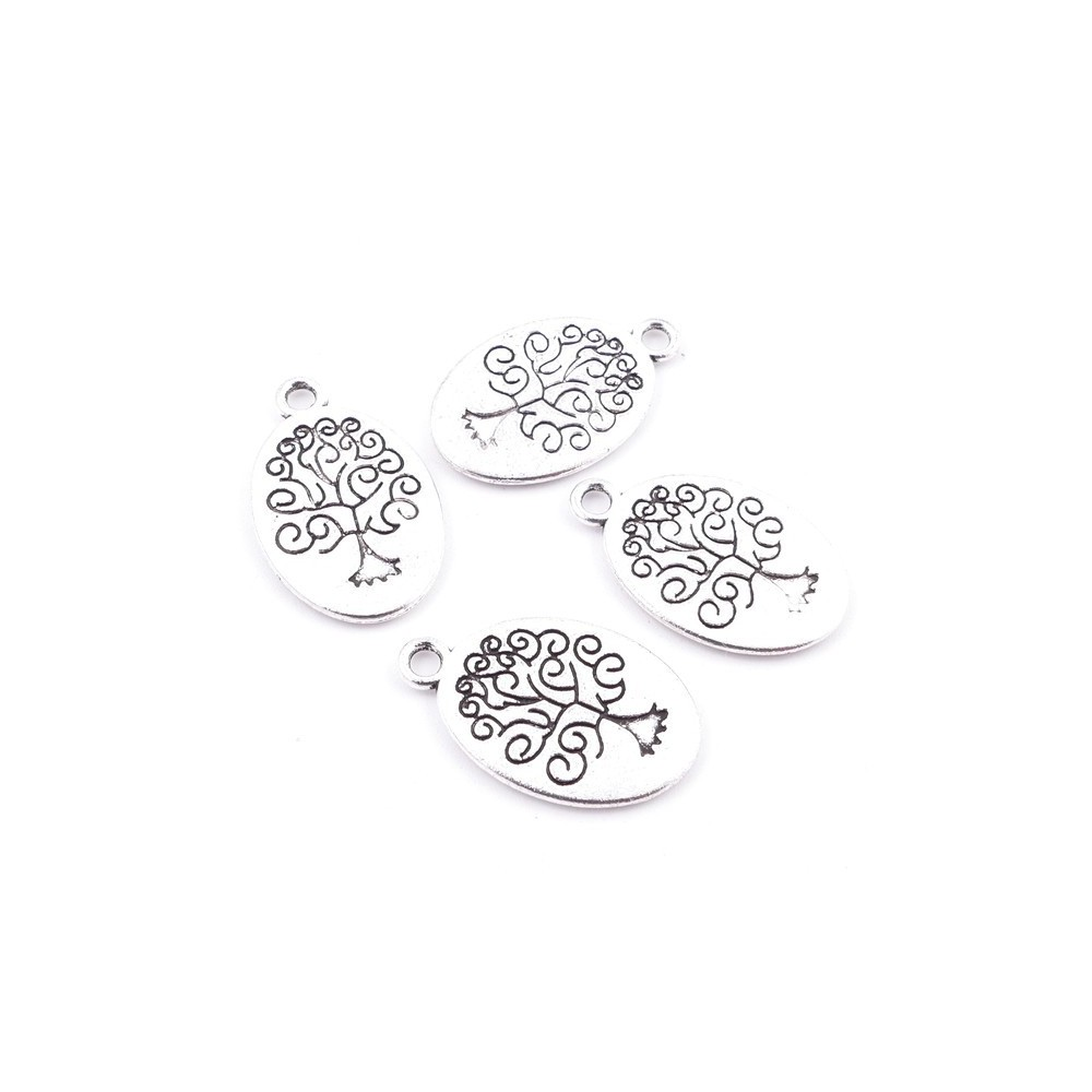 29039-85 PACK OF 10 FASHION JEWELRY METAL 20 X 15 MM TREE OF LIFE CHARMS